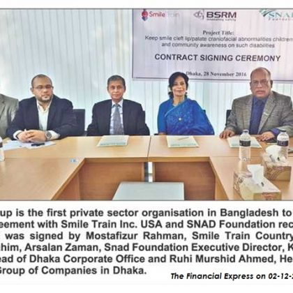 SNADF signs contract with BSRM Group